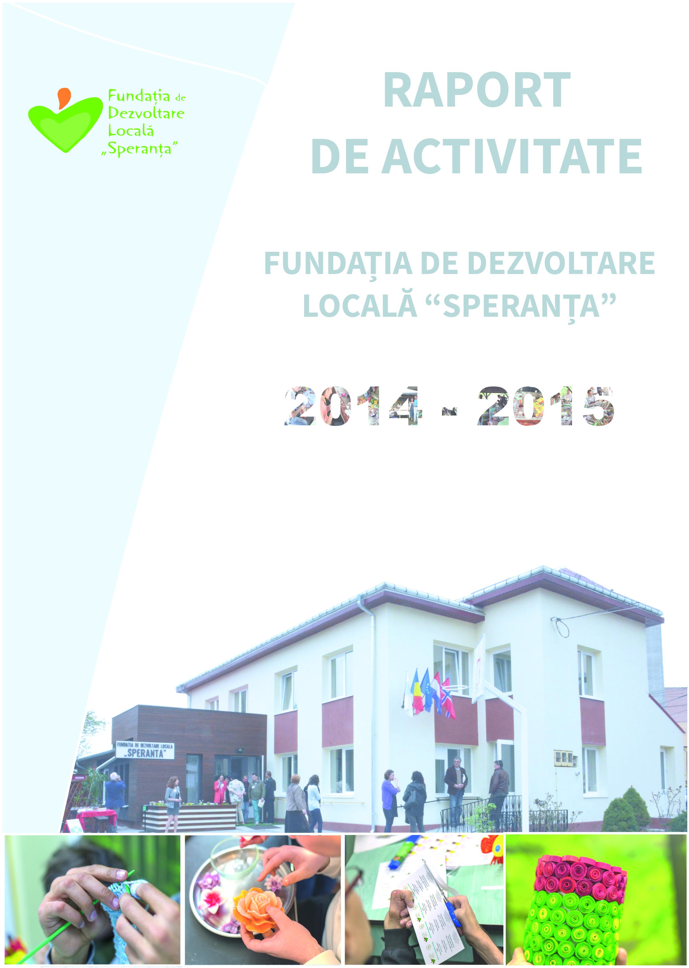 Raport de activitate 2014 - 2015